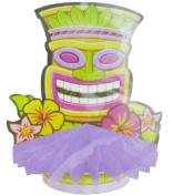 Hawaiian Luau Tiki Mask 29cm Honeycomb Centrepiece
