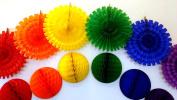 Large Rainbow Honeycomb Decoration Kit
