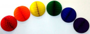Rainbow Party Decorations - 30cm Honeycomb Balls