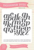 Echo Park Paper Company Script Alphabet Die Set