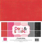 Echo Park Paper Company Dots & Stripes Valentine Collection Kit
