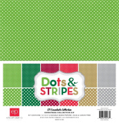 Echo Park Paper Company Dots & Stripes Christmas Collection Kit
