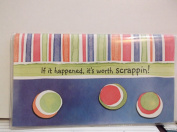 If it happened, it's worth scrappin! Chequebook/Datebook Cover