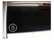 Monogram J Initial with Circles 13cm Vinyl Sticker Decal *K3 Window