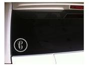 Monogram C Initial with Circles 13cm Vinyl Sticker Decal *J96 Window