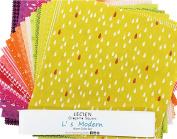 L's Modern Basics Warm Origami Square 42 25cm Squares Layer Cake Lecien