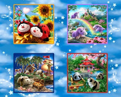 """My Pillow Pets"" 100% Cotton Fabric Panel (Great for Quilting, Sewing, Craft Projects, Throw Pillows & More) 90cm X 110cm"