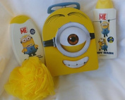 Minions 4 Piece Bath and Shower Bundle in Collectible Tin