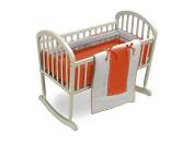 Baby Doll Royal Cradle Bedding Set, Orange