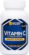Natural Stacks Vitamin C All-Natural Immune Boosting Supplement with Zinc Glycinate  90 Vegetarian Capsules Sourced from Non-GMO Quali-C Corn   #1 Supplement For Optimal Health and Immune Support