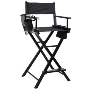 Professional Makeup Artist Directors Chair Wood Light Weight Foldable Black New by Goplus