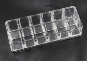 CHENGYIDA 18 Compartment Acrylic Makeup and Jewellery Organiser