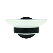 MODONA Frosted Glass Soap Dish - Rubbed Bronze - Viola Series