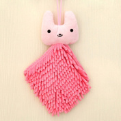 SFamily Chenille Cute Cartoon Animal Absorbent Towel Hanging Hand Towel Rag Home Kitchen Use