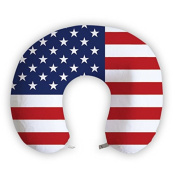 EnjoyIt The Star-Spangled Banner U-Shape Neck Pillow with Perfect Design Cloth with Soft Nap Surface and High Quality Memory Foam Insert