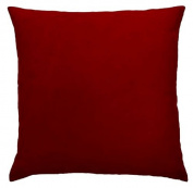 Faux Suede Throw Pillow Case Decorative Cushion Cover Zippered Euro Sham 18x18, Lipstick