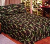 American Hometex 270cm x 240cm Quilt Set, King, Camouflage