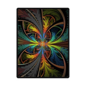 Special Design Psychedelic Trippy Colourful Art Fleece Throws Blankets 58x80