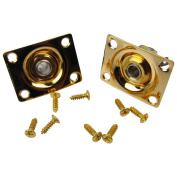 Musiclily Rectangular Output JackPlate Socket for Gibson LP Tele and Strat Style Electric Guitar, Gold
