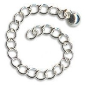 Silver Plated Chain Necklace Extender With Ball End - 7.6cm