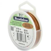 Beadalon 7-Strand Stainless Steel 0.05cm Bead Stringing Wire, 9.1m, Satin Copper