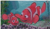 Disney Finding Nemo Counted Cross Stitch Pattern