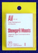 Showgard Pre-Cut Clear Stamp Mounts Size AV31/41