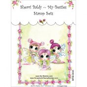 My-Besties MYB34 Clear Stamp, 3 Wee Winged Ones, 10cm x 15cm