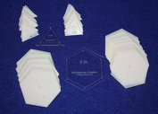Mylar 7.6cm Hexagon & 3.8cm Equilateral Triangle 102 Piece Set - Quilting / Sewing Templates