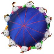 Rimobul Oriental Needle Pin Cushion with 10 Kids - Royal Blue