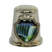 Souvenir Thimble - Michigan - MI