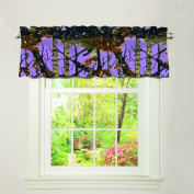"""The Woods"" Camo Curtain Valance Lavender"