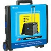 BAZIC Folding Cart on Wheels with Lid Cover, 16 x 46cm x 38cm , Blue