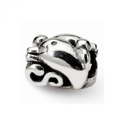 Reflection Beads Sterling Silver Dolphin Bead