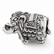 Reflection Beads Sterling Silver Elephant Bead
