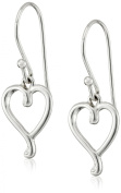 "Hallmark Jewellery ""Stories & Relationships"" Sterling Silver Heart Drop Earrings"