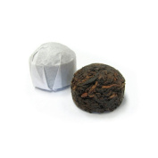 Pu Erh Menghai Rip Tuo Cha Tea Mini Cakes - Recommeded Tea for Weight Loss - Individually Wrapped - Loose Leaf - (Chrysanthemum, 240ml