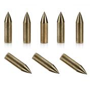 24Pcs Golden Glue-On Archery Field Points 0.8cm 100 Grain Arrow Pratice Point Tips