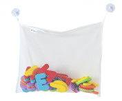 Top Quality bath toy organiser- could also be attached as a baby stroller storage or shower caddies- 2 Bonus suction cups will not let it fall- mesh bag keeps toys dry and mould free