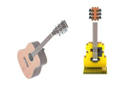 LOZ 9194 Music Instrument - Acoustic Guitar 140pcs Building Block DIY Bricks Toy