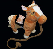 Light Tan Brown Remote Control Battery Operated Walking Toy Horse