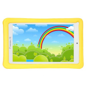 Linsay Kids Quad-core 8gb Android Tablet with Yellow Case - Learning Apps, Videos, E-books, Radio, Weather Forecast, Language Learners Among Many Others