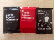 Cards Against Humanity Science Pack, Reject Pack & Holiday 2014 Pack Expansion Bundle