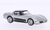 Chevrolet Corvette C3, silver, 1980, Model Car, Ready-made, WhiteBox 1:43