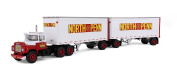 Mack R Model Truck North Penn With Dual 8.5m Trailers 1/64 by First Gear 60-0287
