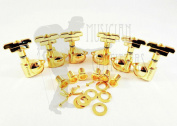 Wilkinson WJ-309 3x3 Gold Guitar Tuners Art Deco Rotomatic Imperial Style Head