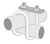 ROHN TB5125BA Double Bend U-Bolt Assembly