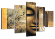 Picture 6410 on canvas length 100cm height 50cm buddha pictures ready to hang framed , brand original Visario!