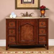 120cm Bathroom Furniture Travertine Top Single Sink Vanity Cabinet 701T