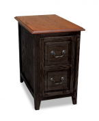 Leick Favourite Finds Shaker Cabinet End Table, Slate Black
